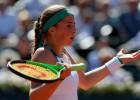 """Foto: Ostapenko emocijas """"French Open"""" pusfinālā"""