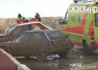 Video: Folkreisa sacensībās Mūsā vairākas smagas avārijas