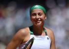 """Ostapenko uzvar pirmajā spēlē """"Grand Slam"""" čempiones statusā"""