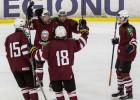 """U18 hokeja izlase pēc ilgas """"bullīšu"""" sērijas ar uzvaru sāk turnīru Jelgavā"""