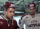"""Video: Stājhokejisti trenējas ar """"Dinamo Rīga"""", gatavojas turnīram Kanādā"""
