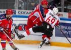 """CSKA trešās trešdaļas izskaņā tomēr salauž Hārtlija """"Avangard"""" pretestību"""