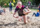 """Klaipēdas """"Kovas"""" un """"Selēna"""" uzvar Latvijas čempionātā pludmales regbijā"""