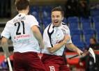Otrajā duelī Latvijas izlase slovākus sagrauj