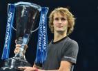 """Čempions Zverevs """"ATP Finals"""" grupā ar Nadalu, Medvedevu un Cicipasu"""