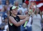 """Ostapenko un Kičenoka uzvar Vimbldonas čempiones un sasniedz """"US Open"""" 1/4 finālu"""