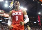 """Vestbruks savāc 139. <i>triple-double</i> un apsteidz Maģisko, """"Suns"""" apspēlē """"Clippers"""""""