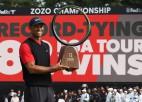 Vudss uzvar Japānā un ar 82. titulu atkārto PGA tūres rekordu