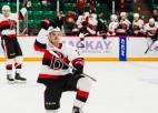 """Balcers gūst vienīgos """"Senators"""" vārtus zaudējumā pret AHL līderi"""