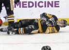 """Bļugera """"Penguins"""" līdz regulārās sezonas beigām paliek bez uzbrukuma līdera Gincela"""