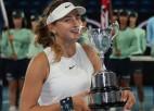 """""""Australian Open"""" meiteņu turnīrā uzvar 14 gadus veca Andoras tenisiste"""