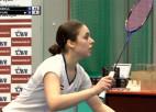 Video: Una Berga uzvar Latvijas čempionāta badmintonā sieviešu vienspēļu finālā
