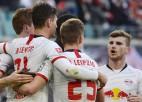 """""""Leipzig"""" sakauj Brēmeni un neļauj """"Bayern"""" atslābt"""