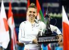 Halepa otro reizi uzvar Dubaijā, izcīnot 20. WTA titulu