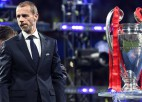 """UEFA prezidents Čeferins: """"Esmu drošs, ka varam pabeigt ČL un EL sezonas"""""""
