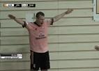 """Video: """"Raba"""" čempionātu atsāk ar pārliecinošu uzvaru Jēkabpilī"""