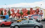 Foto: Maskavas ielas izdaiļo Pasaules kausam veltīti grafiti