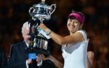 """Foto: Lī """"Australian Open"""" triumfs"""
