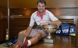 """Foto: Vavrinka kļūst par """"French Open"""" čempionu"""