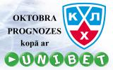 """Konkurss: """"KHL oktobra prognozes kopā ar Unibet.com"""""""