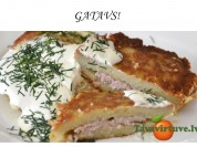Fotorecepte: kartupeļu pankūkas ar maltās gaļas pildījumu