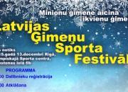 Rīgas Olimpiskajā sporta centrā notiks Latvijas Ģimeņu Sporta festivāls