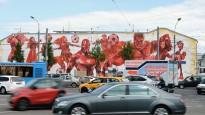 Maskavas ielas izdaiļo Pasaules kausam veltīti grafiti