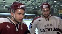 """Stājhokejisti trenējas ar """"Dinamo Rīga"""", gatavojas turnīram Kanādā"""