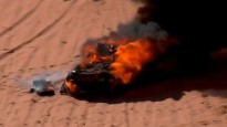 Al-Kasimī Dakaras rallija 3.posmā piedzīvo smagu avāriju, Vasiļjevam sadeg automašīna