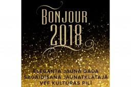"""VEF Kultūras pils aicina uz elegantu  Jaungada sagaidīšanas balli """"Bonjour, 2018!"""""""