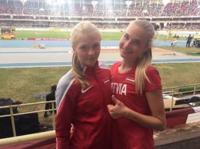 Melnbārdei Latvijas U18 rekords tāllēkšanā