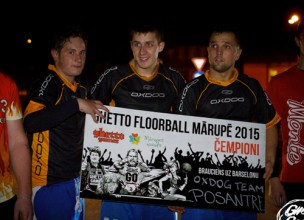 """''OXDOG team/Posantre'' uzvar Mārupes """"Ghetto Floorball"""" un brauks uz Barselonu"""
