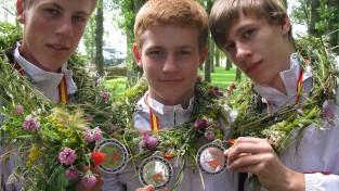 Jauniešu izlase no Eiropas jauniešu čempionāta atgriežas ar medaļām