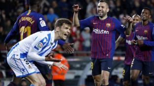 """Albas šāviens palīdz """"Barcelona"""" saglabāt deviņu punktu pārsvaru"""