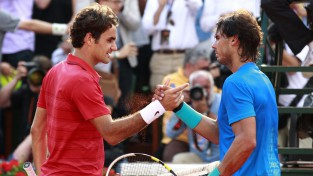 """French Open"" pusfinālu dienas afiša ar Nadala un Federera dueli"