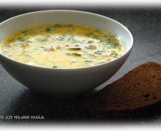 Fotorecepte: Piena zupa ar šampinjoniem