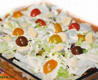 Pikantie meksikāņu čipsu salāti
