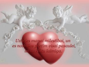 """Foto: Valentīndienas apsveikuma kartiņa """"uzticies manai mīlestībai"""""""