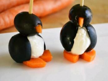 Olīvu un krēmsiera  pingvīni