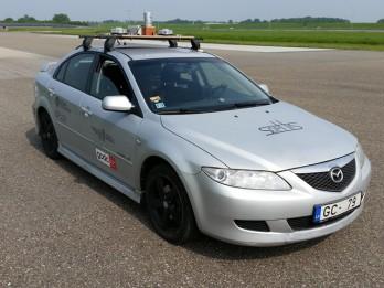Ķīpsalā ieripos Latvijā radīts pašbraucošs auto!