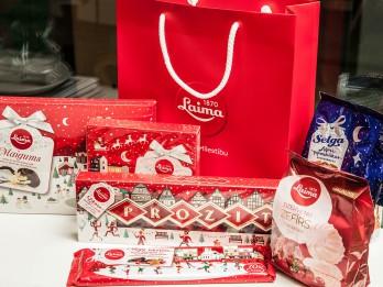 """Piedalies un laimē īpašo """"Laima"""" un """"Selga"""" Ziemassvētku saldumu kolekciju"""