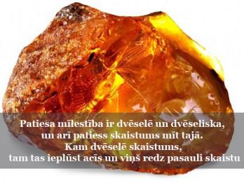 20.februāra dienas akmens- DZINTARS