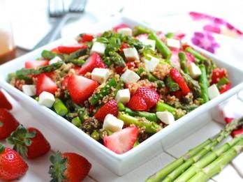 Siltie kvinojas salāti