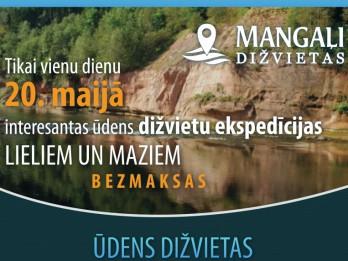 Ar īpašām ekspedīcijām iedzīvotājus aicina apmeklēt Latvijas ūdens dižvietas