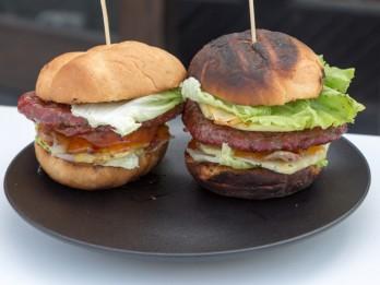 Pikantā burgera recepte