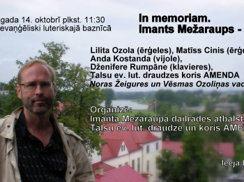 """In memoriam. Imants Mežaraups – 60"""