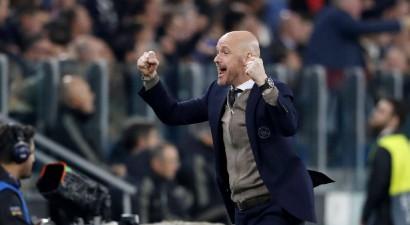 """""""Ajax"""" noslēdz jaunu līgumu ar galveno treneri ten Hagu"""