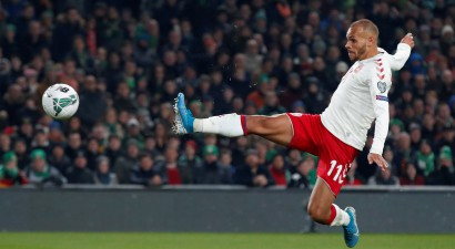 """Dānija iztur Dublinā un iekļūst """"Euro 2020"""" finālturnīrā, Itālija iesit deviņus"""