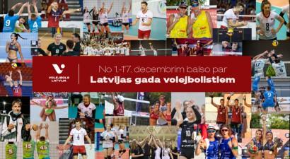 """Sākas balsojums par 2020. gada Latvijas labākajiem volejbolā un """"bīčā"""""""