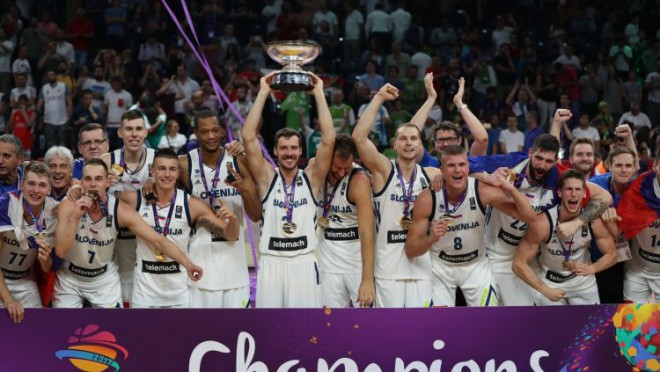 Neuzvaramā Slovēnija pirmo reizi triumfē Eiropā